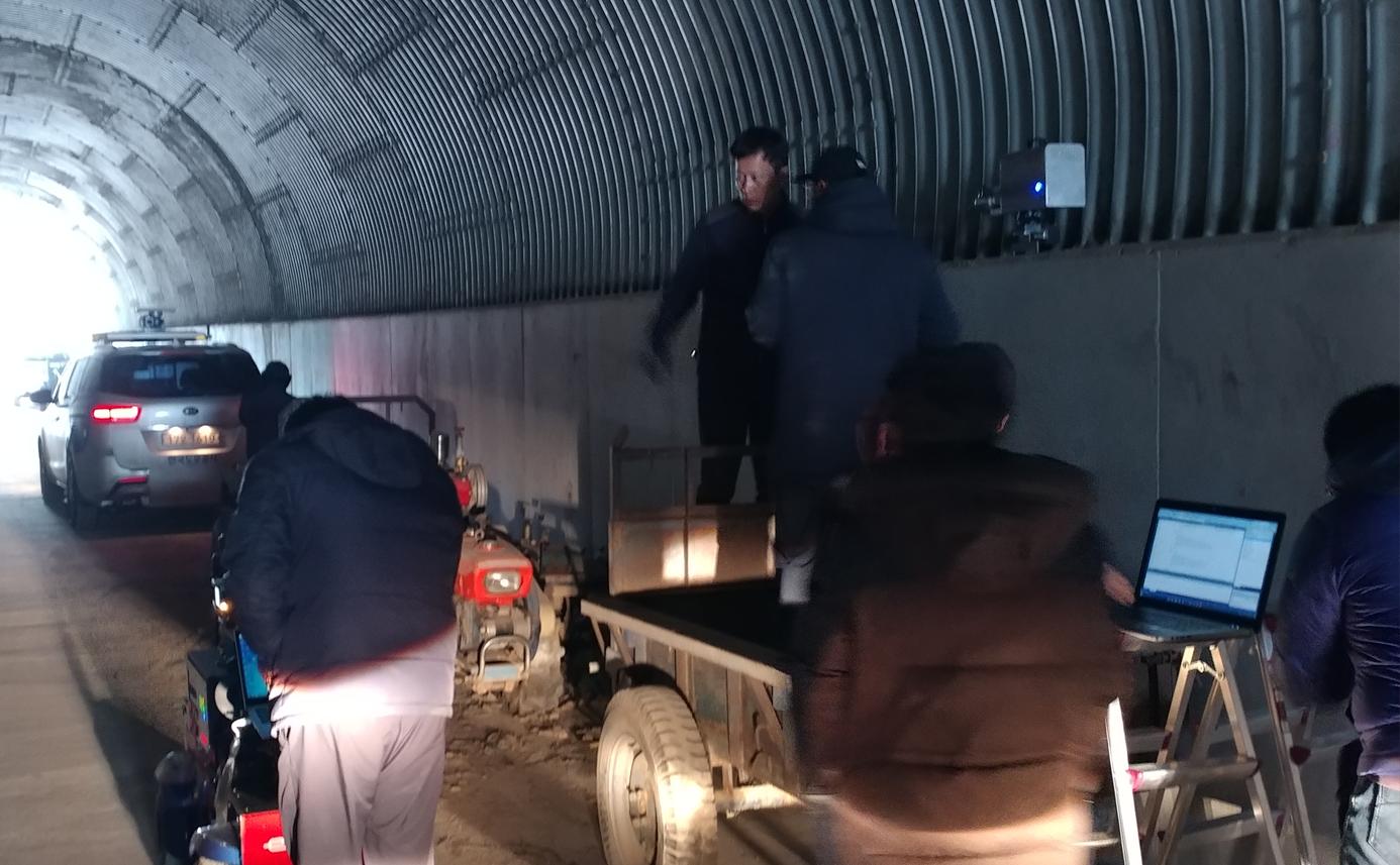 한국도로공사 및 한국도로 교통연구원과 현장 측정 및 검증 2 - 영동-16, 영동-20 구간